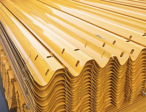 双波喷塑波形护栏板